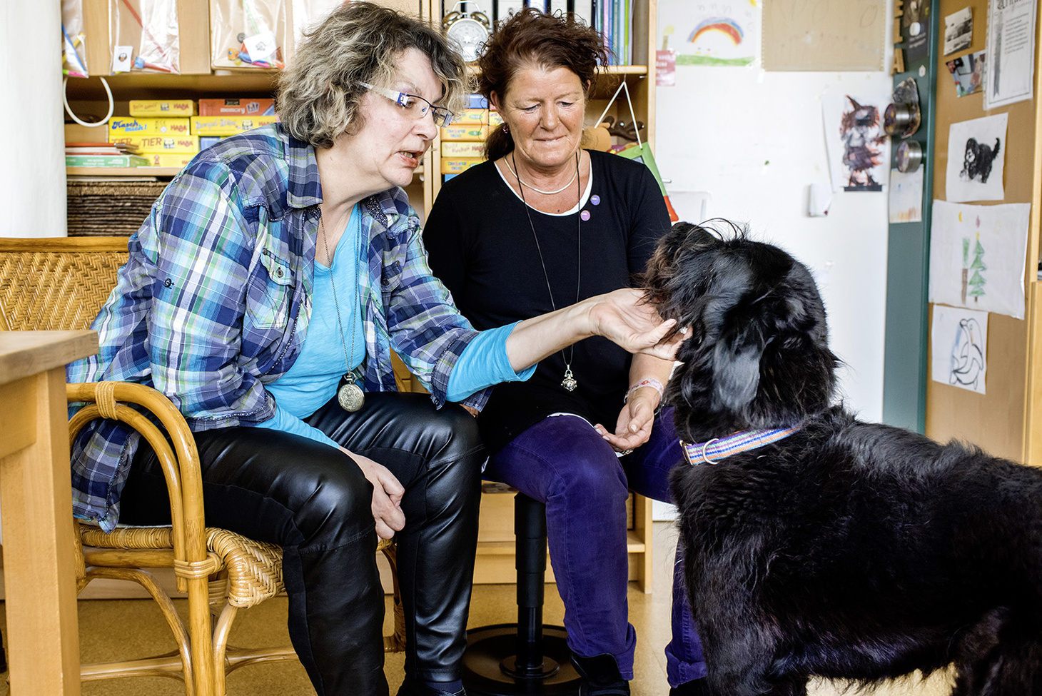 Therapiestunde mit Hund